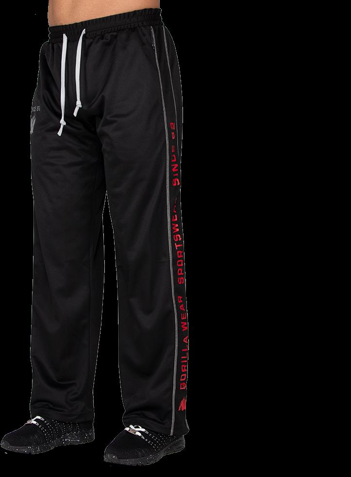 Gorilla Wear Functional Mesh Trainingsbroek (RoodZwart) SM