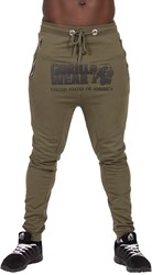 Gorilla Wear Alabama Drop Crotch Joggers - Army Green