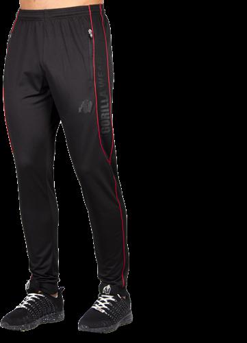 Gorilla Wear Branson Trainingsbroek - Zwart/Rood