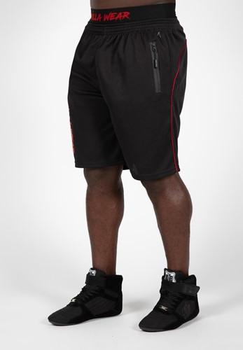 Gorilla Wear Mercury Mesh Shorts - Zwart/Rood