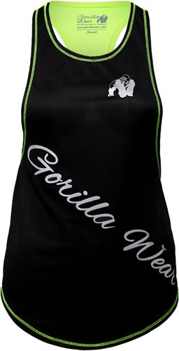 Gorilla Wear Florida Stringer Tank Top Zwart/Neon Groen