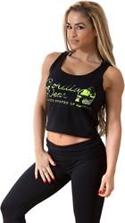 Gorilla Wear Oakland Crop Tank Black/Neon Lime Camo