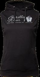 Gorilla Wear Selma Sleeveless Hoodie - Black