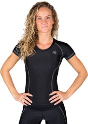 Gorilla Wear Carlin Compression Short Sleeve Top - Black Gray