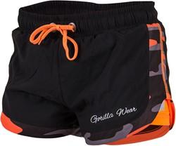 Gorilla Wear Denver Shorts Black/Neon Orange