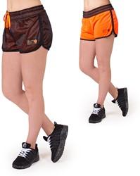 Gorilla Wear Madison Reversible Shorts - Black/Neon Orange