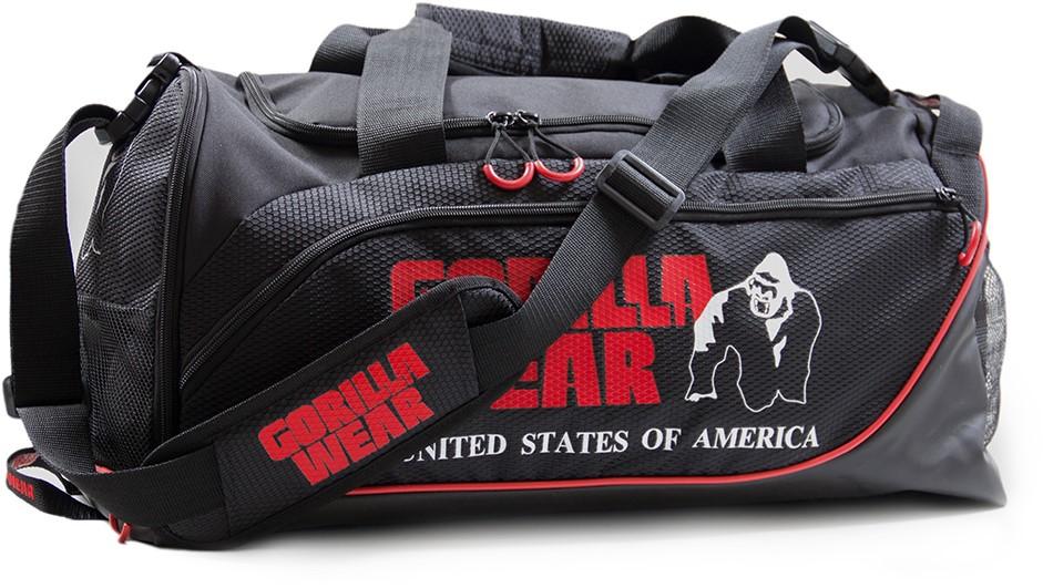 58eccf94468d Gorilla Wear Jerome Gym Bag - Black Red-3