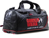 Gorilla Wear Jerome Gym Bag -  Black/Red-1