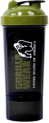 Gorilla Wear Compacte Shaker - Zwart/Legergroen