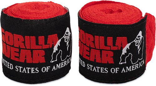 Gorilla Wear Boksbandages - Rood