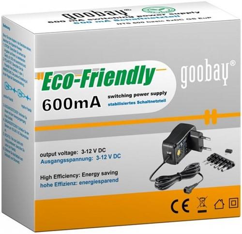 Goobay EcoFriendly Universele Adapter 600mA-2