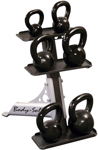 Body-Solid 3-Pair Kettlebell Rack-3