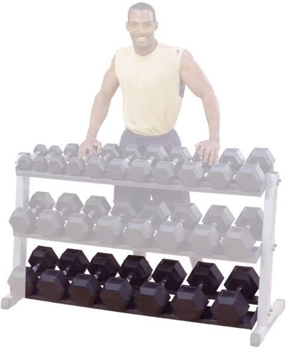 Optional Third Tier voor Body-Solid Pro Dumbbell Rack