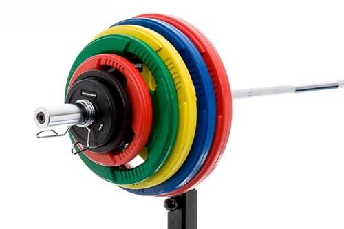 Rubber schijf gekleurd 5 kg (50 mm)-2