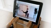 Nohrd swing bell tower met iPad 2