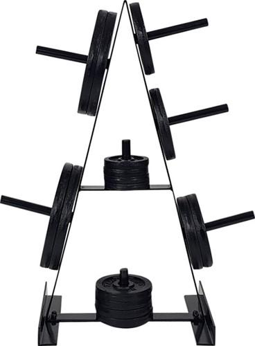 Tunturi Schijvenstandaard - Halterschijf standaard -Zwart
