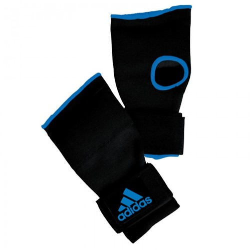 Adidas Gevoerde Binnenhandschoen met Bandage - Zwart/Blauw - S
