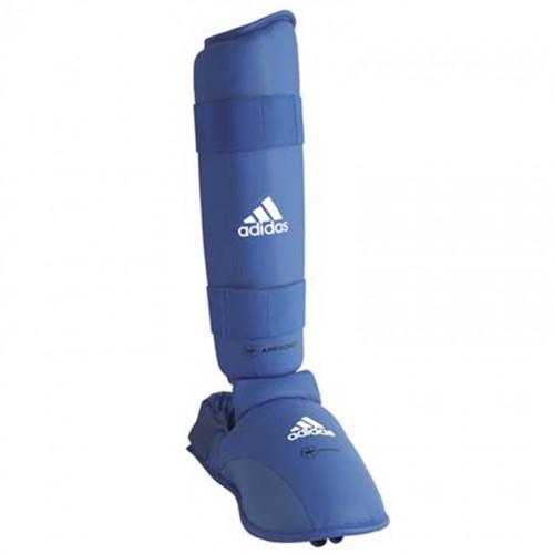 Adidas WKF Scheenbeschermers met Verwijderbare Voet - Blauw