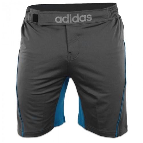 Adidas Training MMA Short Grijs Blauw