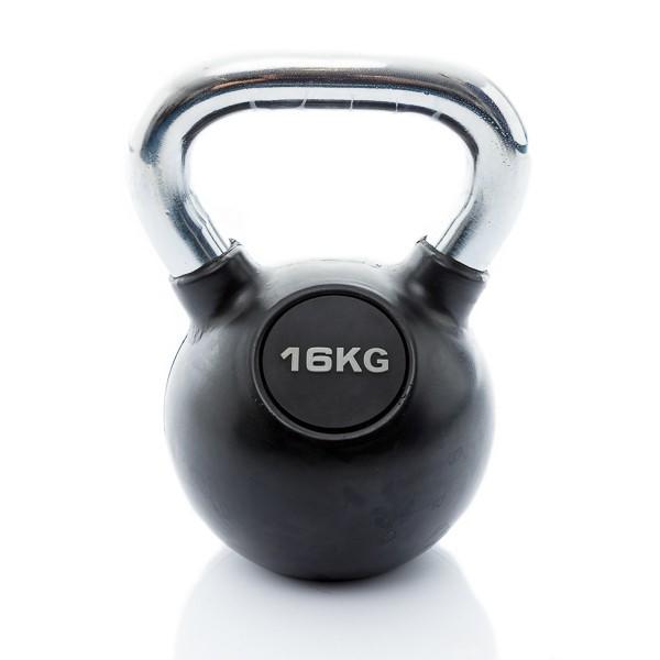 Muscle Power Rubberen Kettlebell - 16 kg