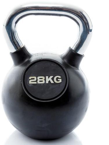 Muscle Power Rubberen Kettlebell - 28 kg