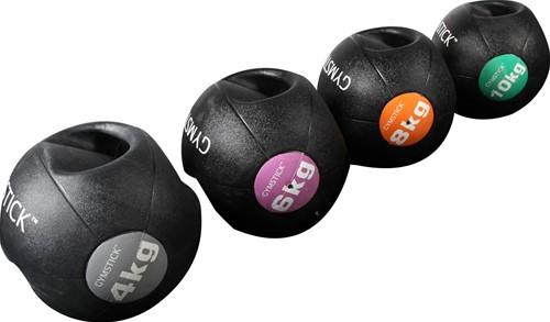 Gymstick medicijnbal met handvaten - 8 kg - Licht verkleurd - Verpakking ontbreekt-2