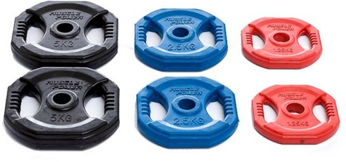 Muscle Power Aerobic Pump Halterschijf - 30 mm - 2.5 kg - Blauw - Per stuk