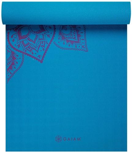 Gaiam Studio Select Sticky Grip Yoga Mat - 5 mm - Mandala / Blauw