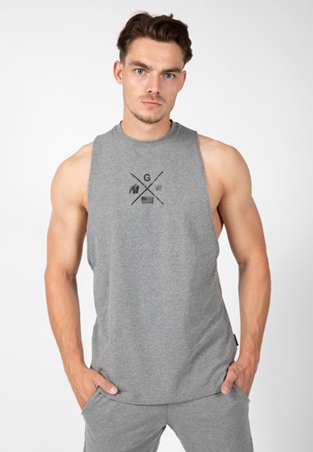 Gorilla Wear Cisco Tank Top - Grijs/Zwart