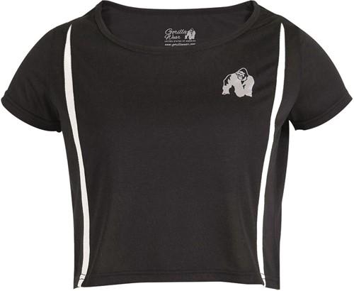 Gorilla Wear Columbia Crop Top - Zwart/Wit