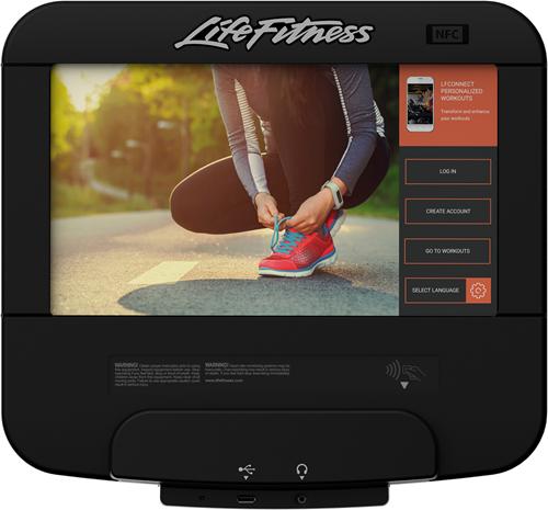 Life Fitness Platinum Discover SE3HD Ligfiets - Arctic Silver - Gratis montage-3