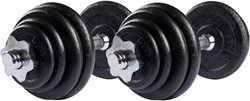 VirtuFit Dumbellset Gietijzer 2 x 15 kg (30 kg)
