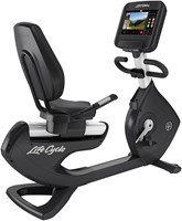 Life Fitness Platinum Discover SE3 Ligfiets - Diamond White - Gratis montage