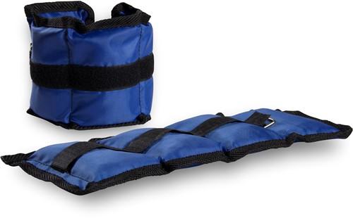 VirtuFit Verstelbare Enkelgewichten / Polsgewichten 2 x 1 kg - Nylon - Blauw
