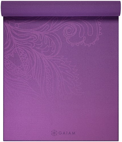 Gaiam Yoga Mat - 4 mm - Fading Flower