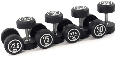 Muscle Power Ronde Rubber Dumbbell Set - 8 x 22,5-30 kg