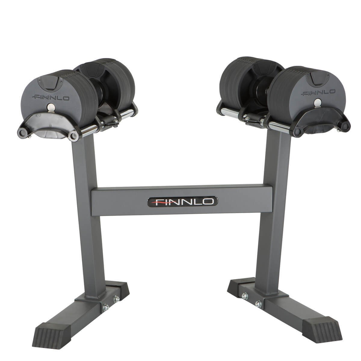 Finnlo SmartLock Verstelbare Dumbbell Set inclusief Opbergrek - 2 x 32 kg