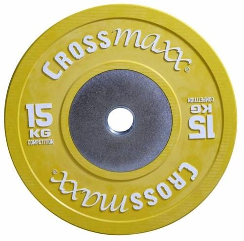 Lifemaxx Crossmaxx Competition Bumper Plate - Halterschijf - 50 mm - 15 kg