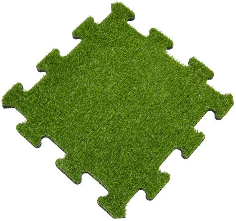 Rubber Tegel met Kunstgras Toplaag - Middenstuk - Puzzelsysteem - 50 x 50 x 2,2 cm