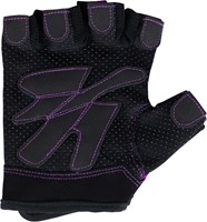 Gorilla Wear Womens Fitness Gloves Black/Purple-2