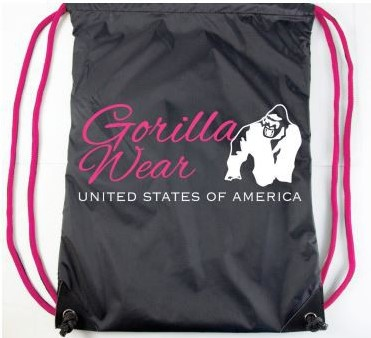 Gorilla Wear Drawstring Bag Black/Pink