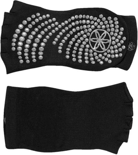 Gaiam Grippy Toeless Yoga Socks - Anti-slip Yogasokken - Granite
