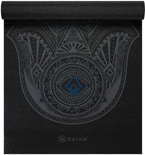Gaiam Yoga Mat - 4 mm - Grey Hamsa