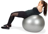 VirtuFit Anti-Burst Fitnessbal Gymbal met Pomp - Grijs - 75 cm -3