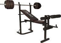 Gymstick Halterbank Met 40kg Gewichten-1