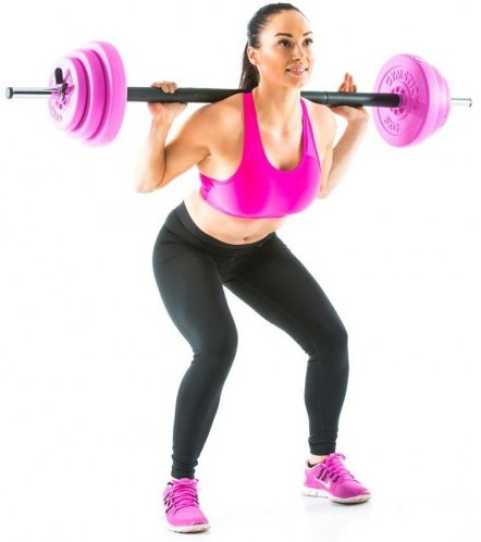 Gymstick 20 kg pump set met trainingsvideo's - roze-2