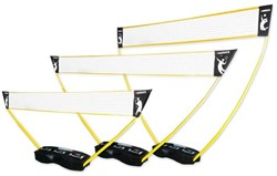 3-in-1 set - portable tennis, badminton en volleybal net