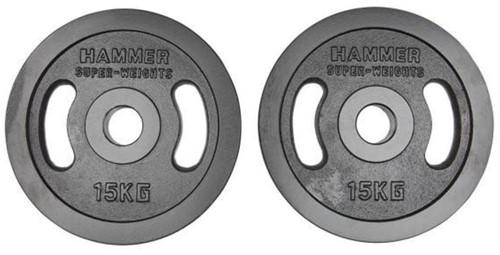 Hammer Olympische Gietijzeren Halterschijven - 2 x 15 kg
