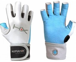 Harbinger Women's X3 Competition Open Finger Crossfit Fitness Handschoenen Blue/Gray/White - S - Licht beschadigd