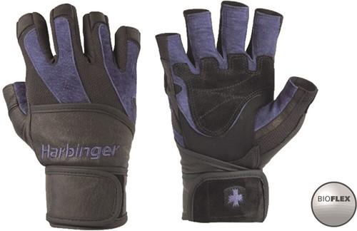Harbinger BioFlex WristWrap Fitness Handschoenen - Black/Blue
